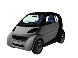 Smart Fortwo city car 3d model
