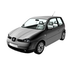 SEAT Arosa city car 3d model