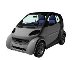 Smart Passion Coupe city car 3d model