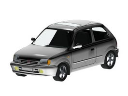 Nissan Micra Supermini car 3d model