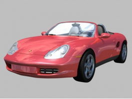 Porsche Boxter 2-door roadster 3d model