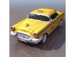 1940s Buick taxi 3d model