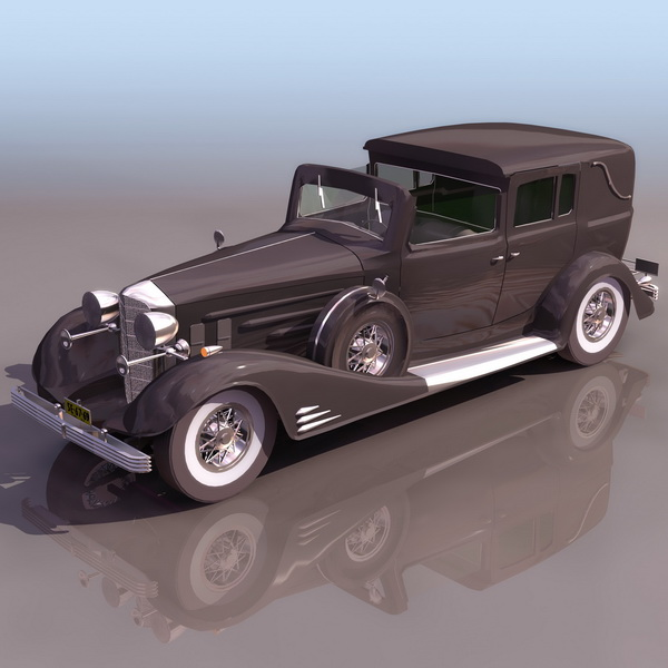 3dSkyHost: 1940 Cadillac 90 Town Car 3D Model