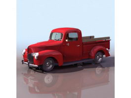 1940S Ford pick-up truck 3d model