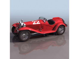 Alfa Romeo 8C 2300 racing car 3d model