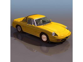 Alfa Romeo Spider roadster 3d model