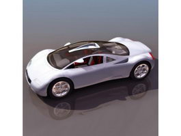 Audi supercar-styled concept car 3d model