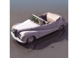 BMW 502 two-door cabriolet 3d model