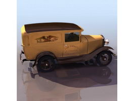 1920S Ford Model A Business Coupe 3d model