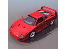 Ferrari F40 2-door coupe sports car 3d model
