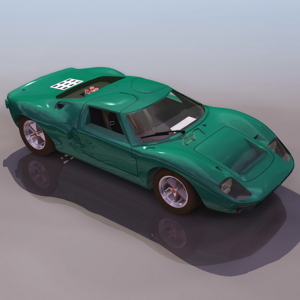 Ford Sports Car Models: Ford GT40 Sports Car 3d Model 3DS Files Free Download