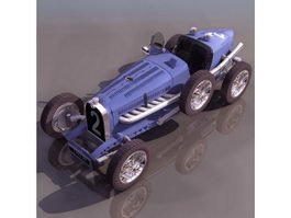 Bugatti Type 35 racing car 3d model