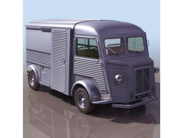 Citroen Type H delivery van 3d model