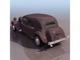 Citroen Traction Avant sedan 3d model