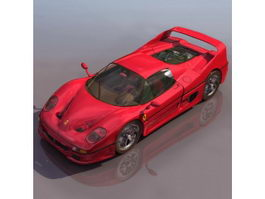 Ferrari F50 sports car 3d model