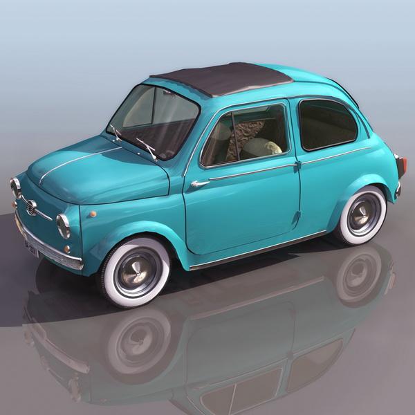 Fiat 500 2 Door Saloon 3d Model 3ds Files Free Download Modeling