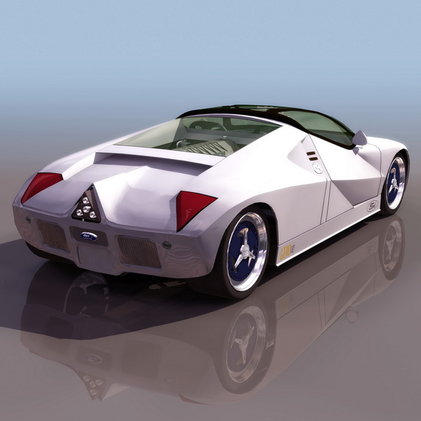 Ford GT90 concept car 3d rendering