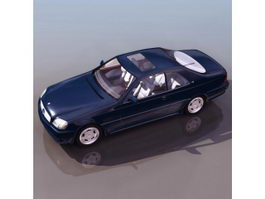 Mercedes-Benz 600 luxury sedan 3d model