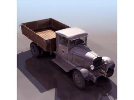 Russian ZIS-5 truck 3d model