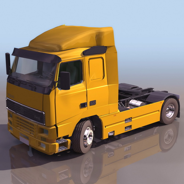 Volvo FH16 heavy truck 3d model 3DS files free download ...