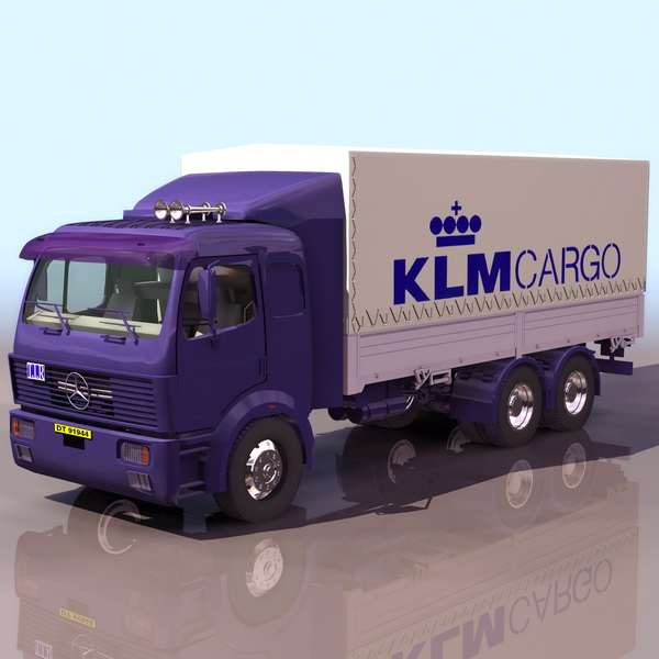 3dSkyHost: Mercedes-Benz container carrier truck 3D Model