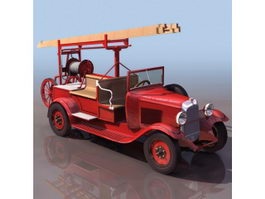 Early pump-ladder truck 3d model