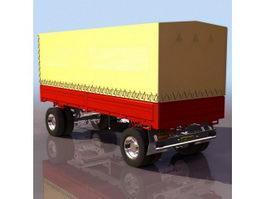 Container semi-trailer 3d model