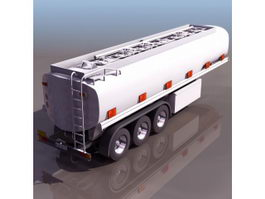 Liquid hydrogen trailer 3d model