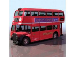 Early double-decker bus 3d model