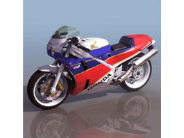 Honda VFR750R motorcycle 3d model