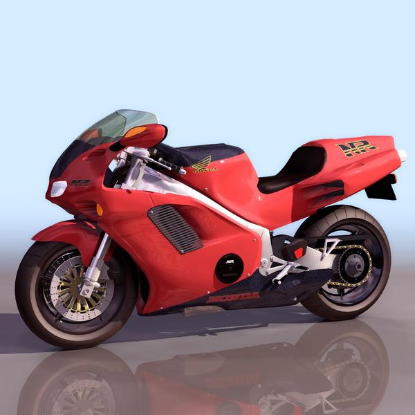 Honda Nr Racing Motorcycle 3d Model 3ds Files Free