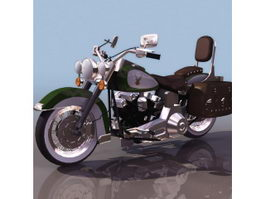 Harley-Davidson softail motorcycle 3d model