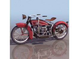 1923 ACE motorcycle 3d model