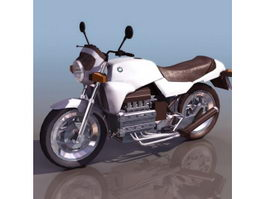 BMW K100 street motorcycle 3d model