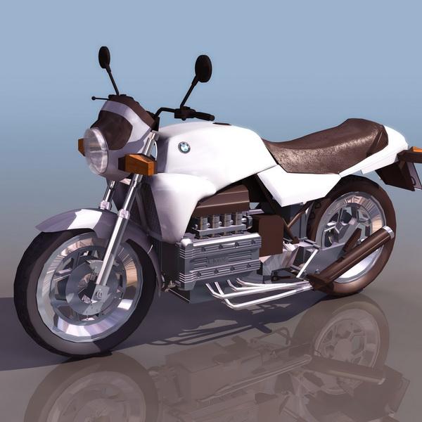 Bmw K100 Street Motorcycle 3d Model 3ds Files Free