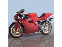 Ducati sport motorcycle 3d model