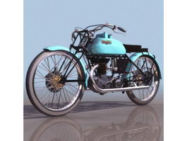 Italy Bianchi racing motorcycle 3d model