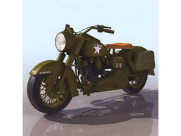 Harley-Davidson WLA motorcycle 3d model
