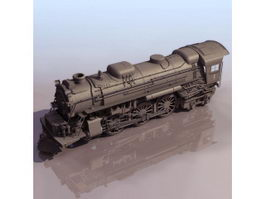 Vintage steam locomotive 3d model