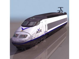 AVE high-speed rail 3d model