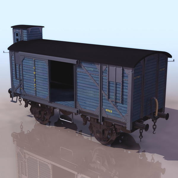 Railway Boxcar 3d Model 3ds Files Free Download