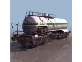 Rail tank car 3d model