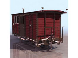 Railway cupola caboose 3d model