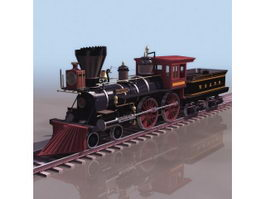 Early steam locomotive 3d model