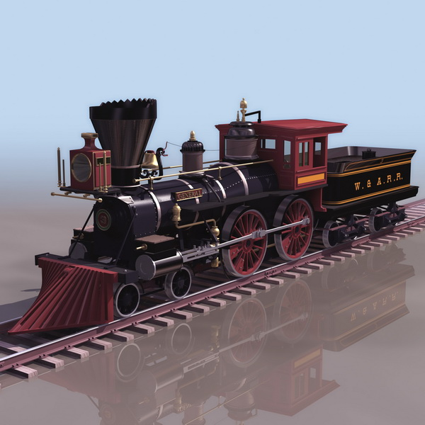 Early Steam Locomotive 3d Model 3ds Files Free Download