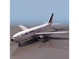 Airbus jet airliner 3d model