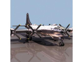 Boeing B-29 Heavy bomber aircraft 3d model