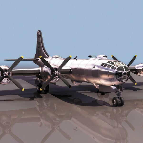 Boeing B 29 Heavy Bomber Aircraft 3d Model 3ds Files Free Download Modeling 11374 On Cadnav