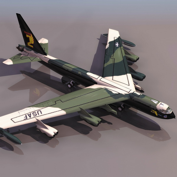 Boeing B-52 Strategic Bomber Aircraft 3d Model 3DS Files