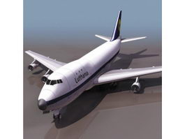 Boeing 747 commercial airliner 3d model